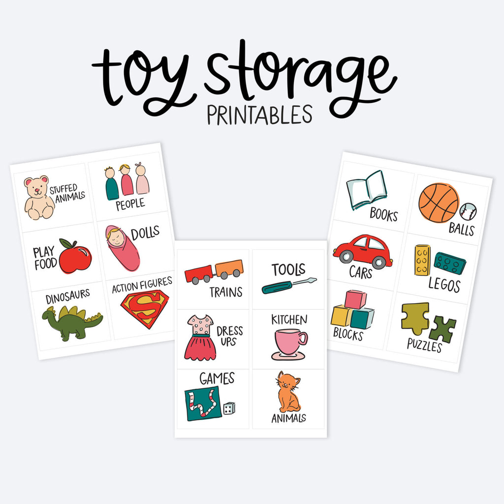 Kids Toy Room Organization Labels