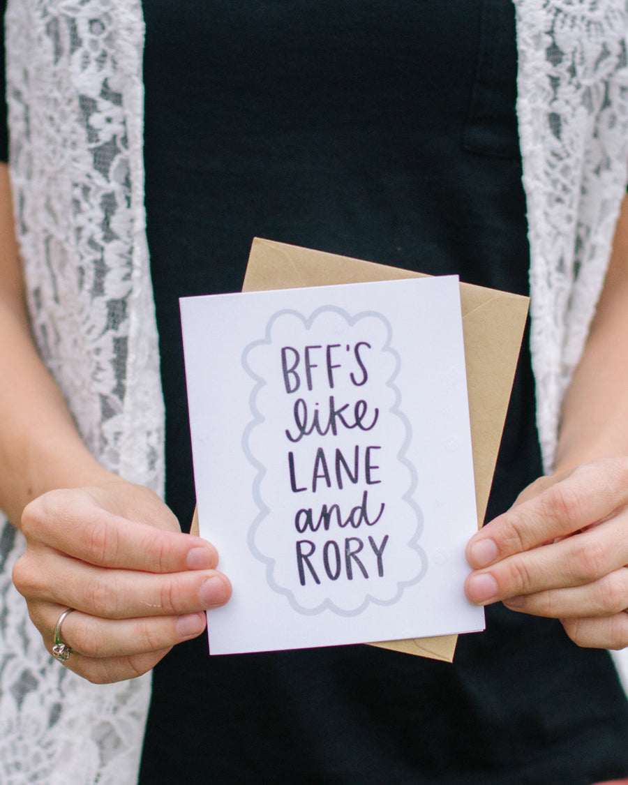 Gilmore Girls BFFs Card