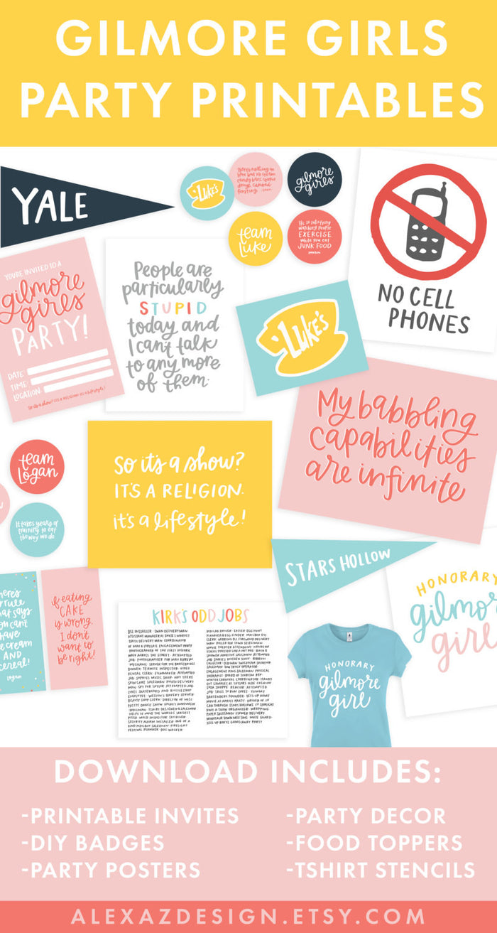Gilmore Girls Party Printable Pack