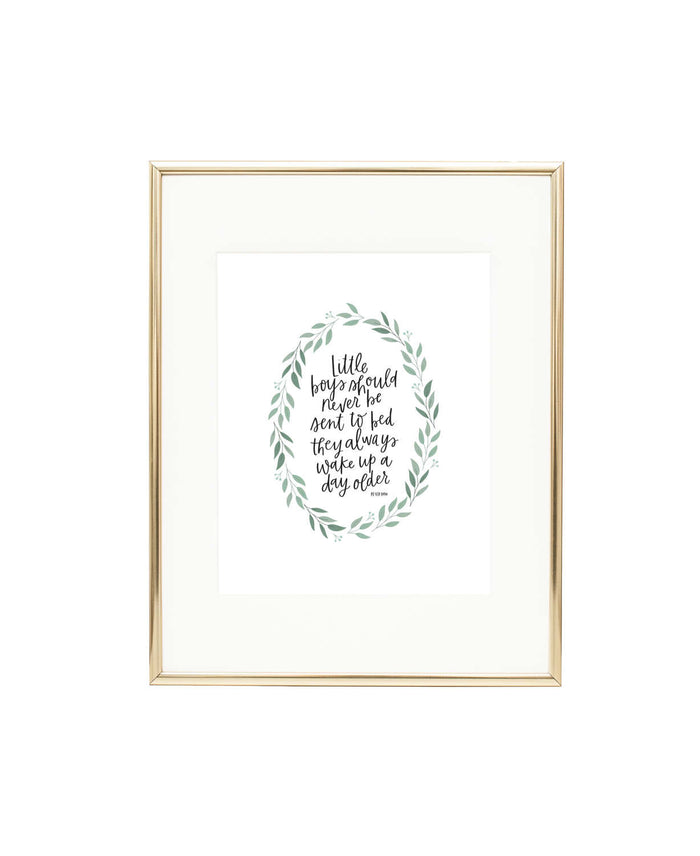 Little Boys Peter Pan Print