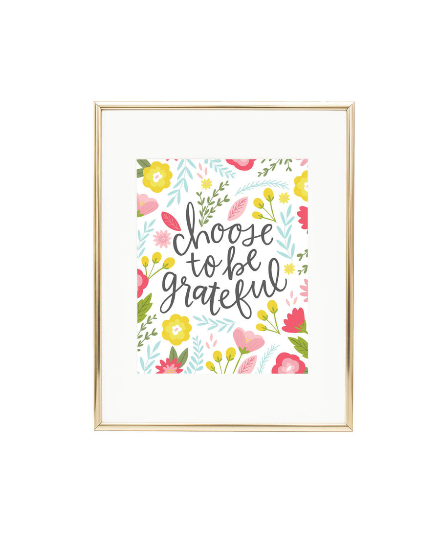 Choose to be Grateful Wall Art