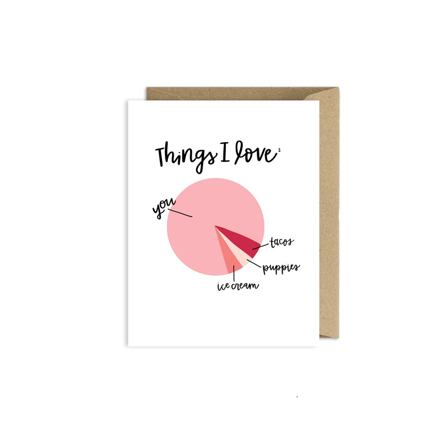 Love You More Card - Valentines Card - Card for Him - Card for Her