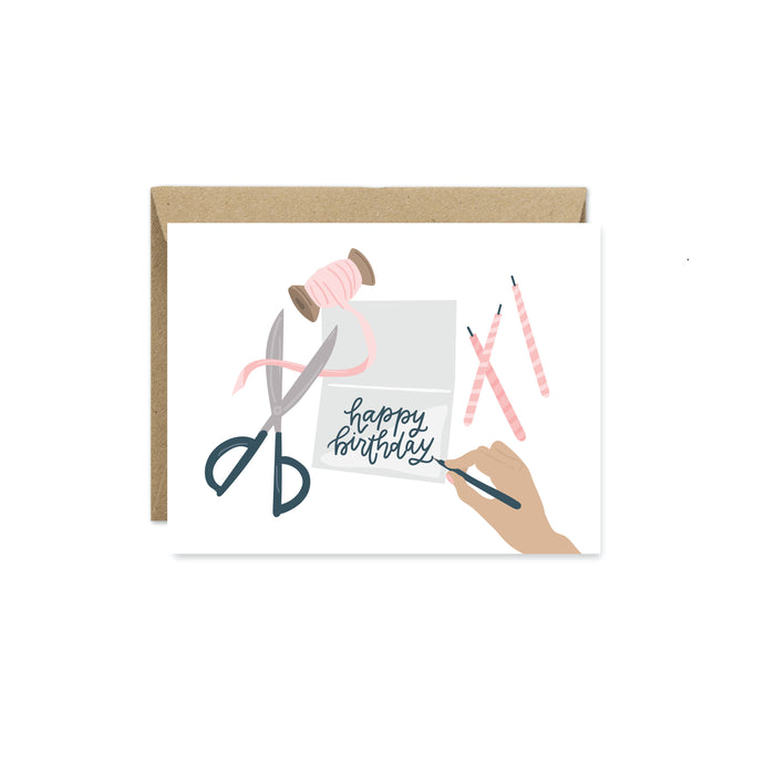 Happy Birthday Note Greeting Card