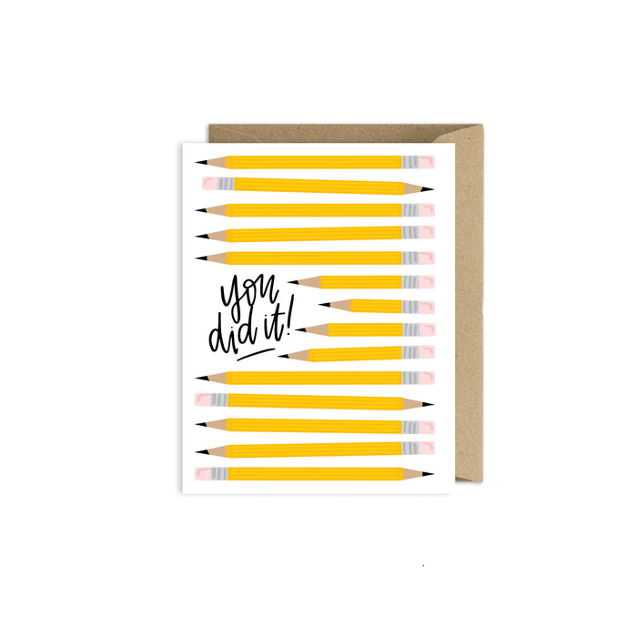 You Did It - Congratulations Graduation School Card