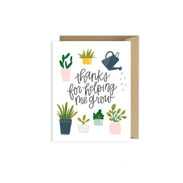 Thanks for Helping Me Grow - Teacher Card
