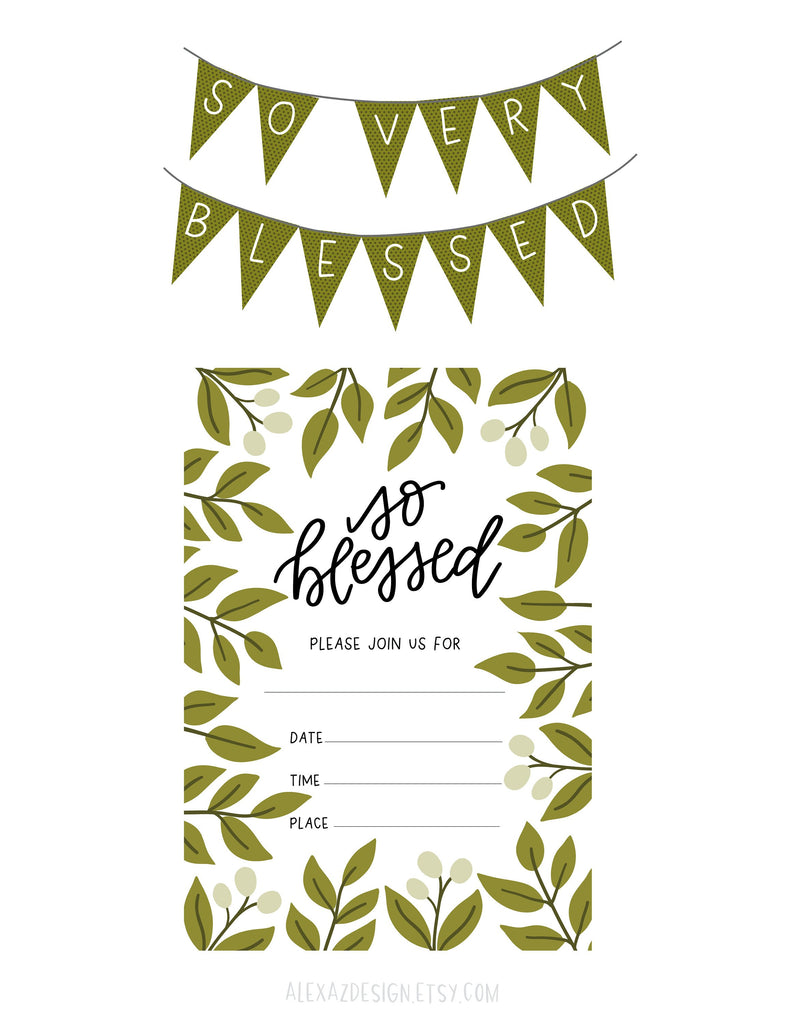 Blessing Day Party Printables
