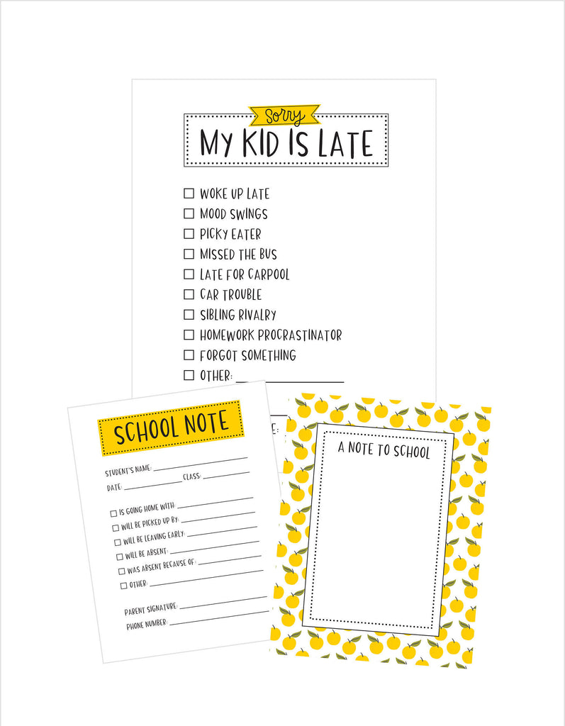 School Excuse Note Printable