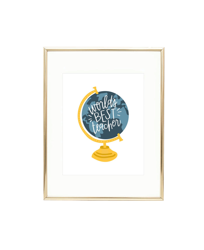 World's Best Teacher Art Print
