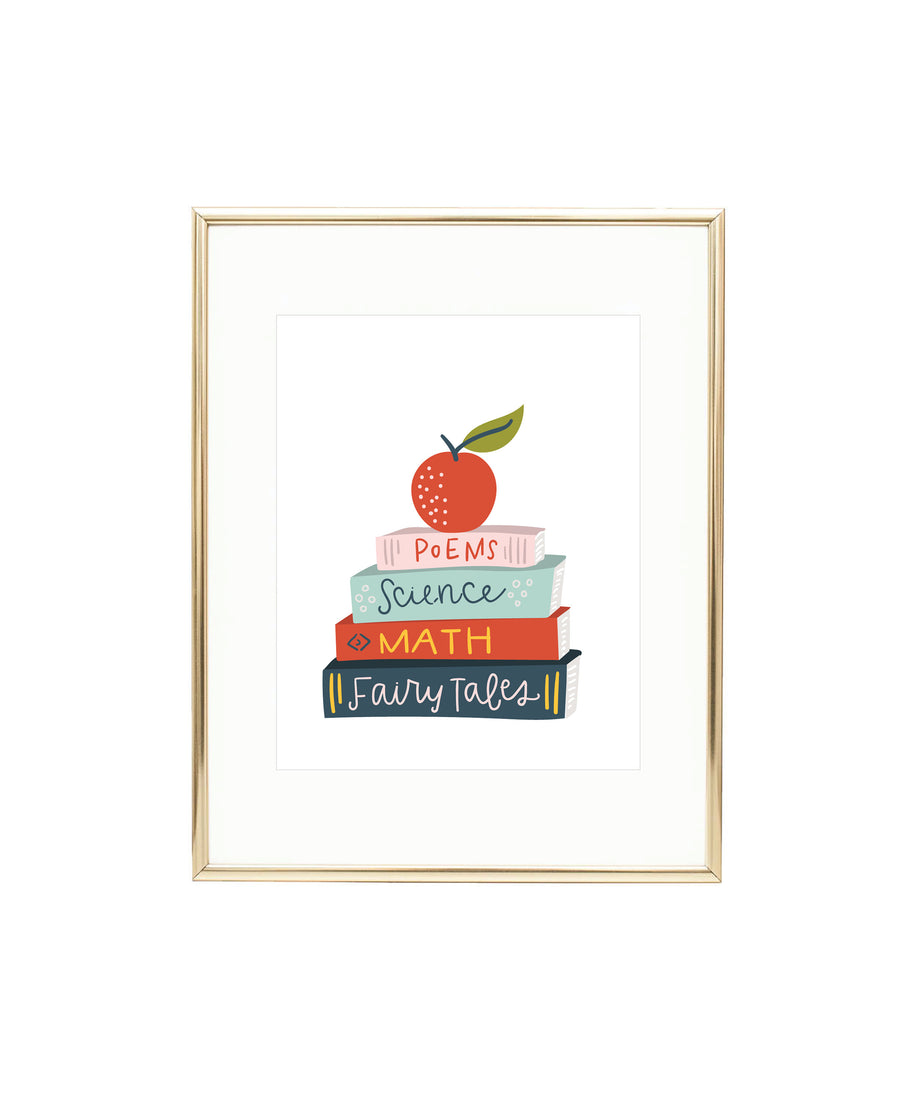School Books Art Print