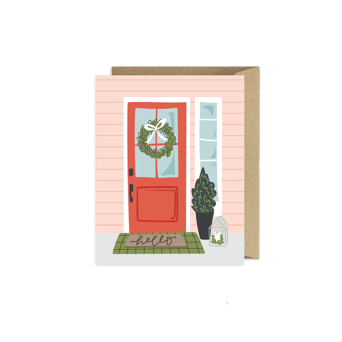 Christmas Hello Flat Notecard