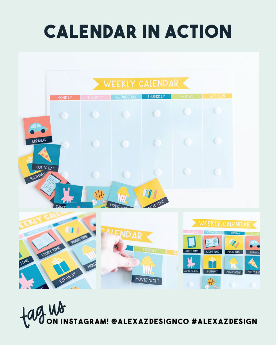 Weekly Printable Calendar for Kids