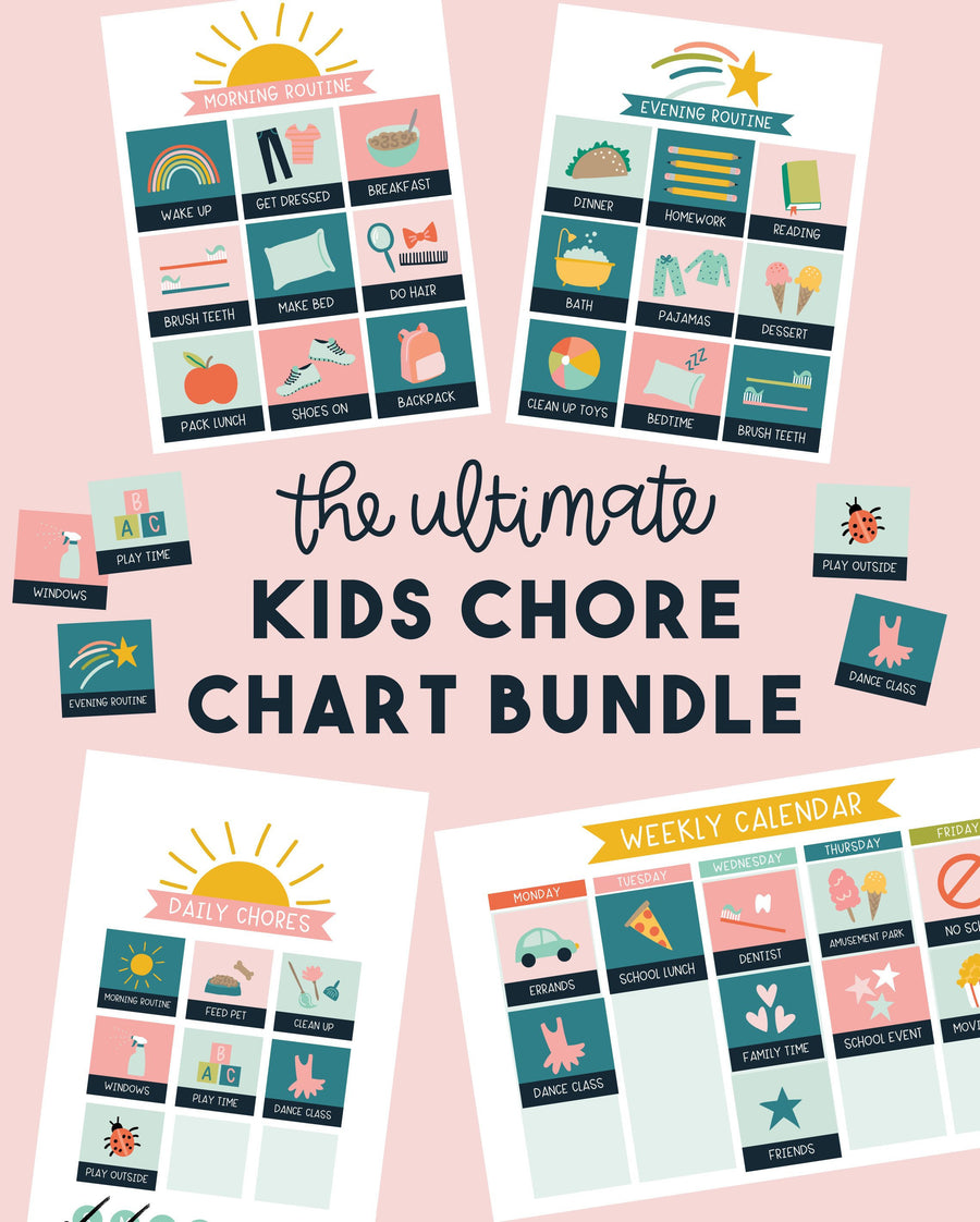 Ultimate Kids Chore Chart Bundle
