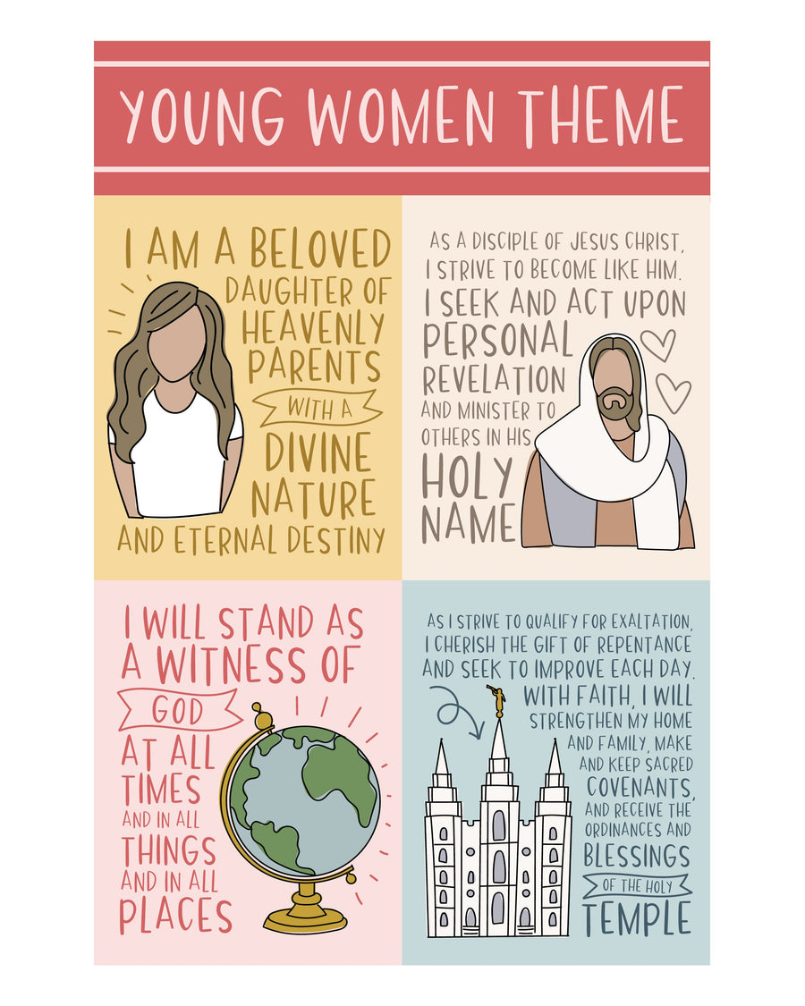 Young Women Theme Printable Poster