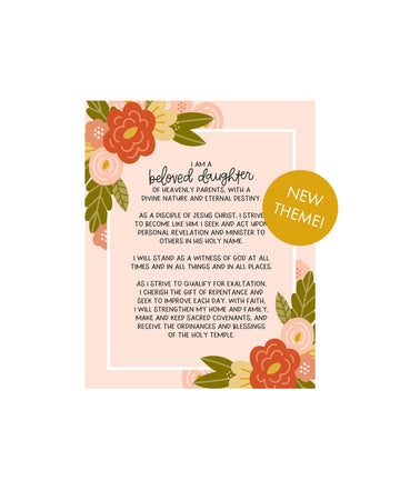 NEW Young Women Theme Poster Printables