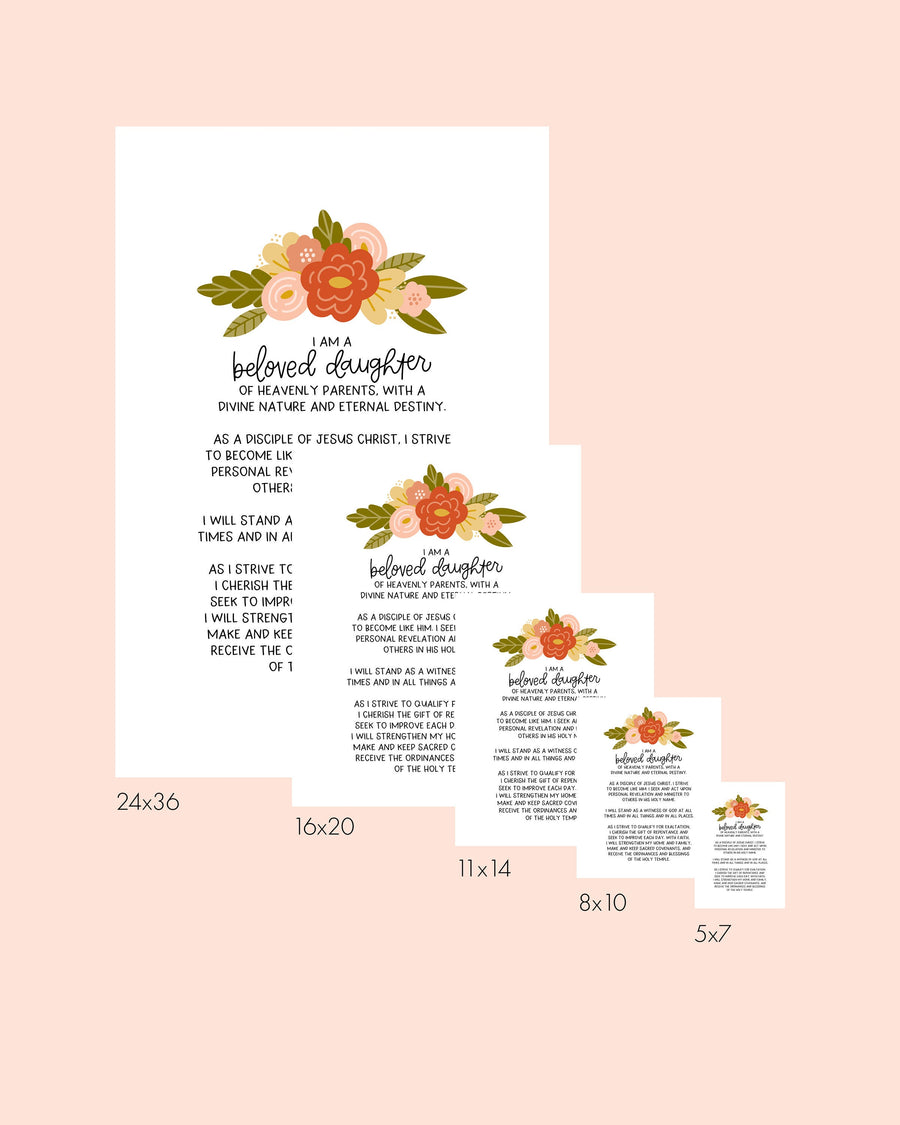 NEW Floral Young Women Theme Poster and Printables