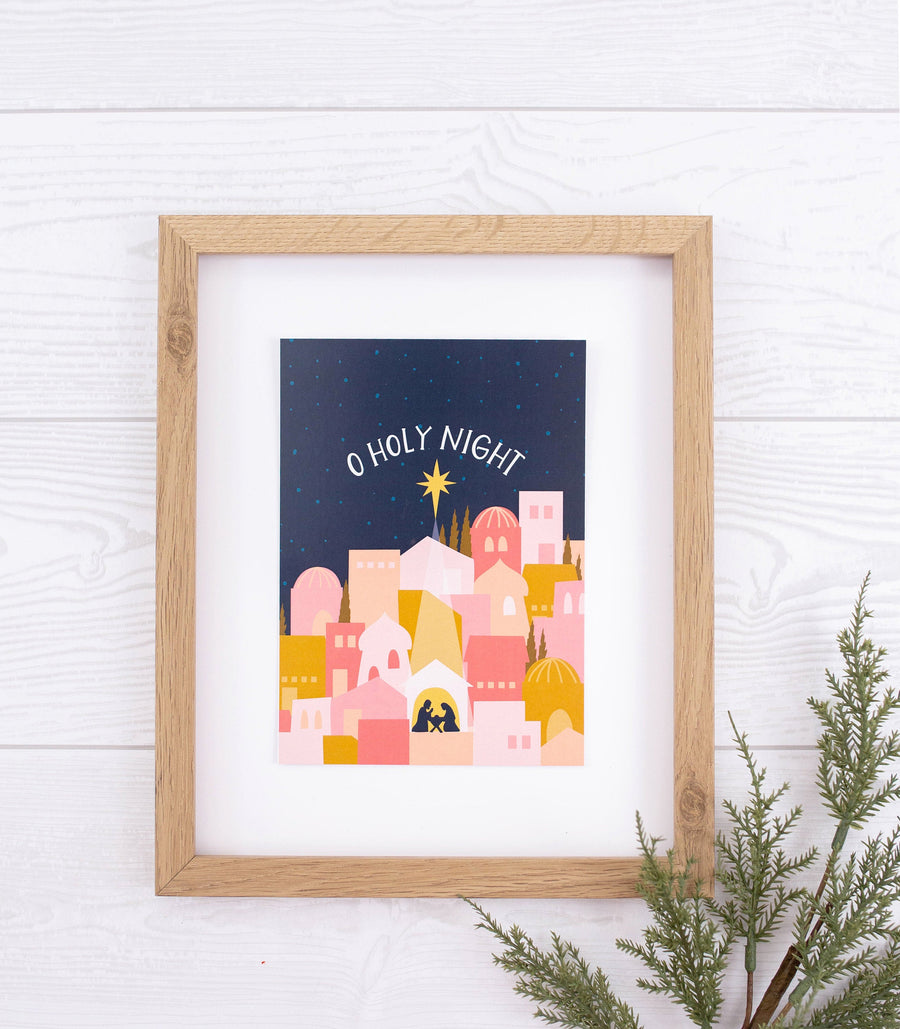 O Holy Night Nativity Illustration