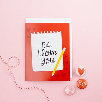 P.S. I Love You Valentine's Day Card