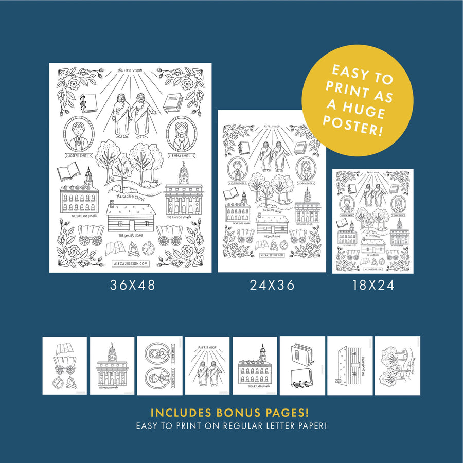 General Conference 2020 Bicentennial Coloring Pages and Engineer Print
