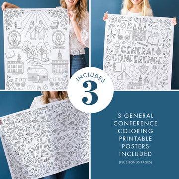 Pack of 3 General Conference Printable Posters