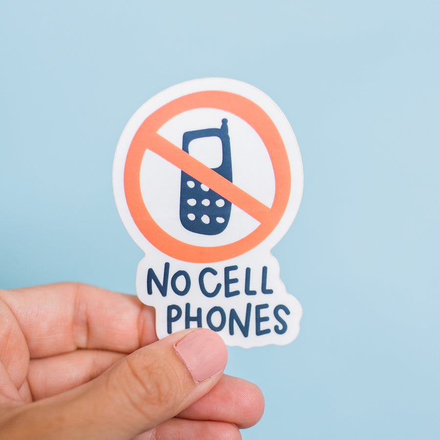 Gilmore Girls No Cell Phones Waterproof Sticker