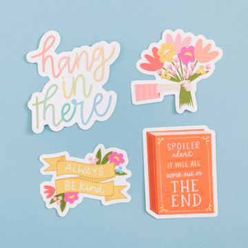 Encouragement Kindness Waterproof Sticker Set