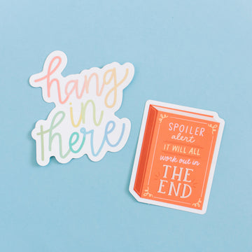 Encouragement Hang in There Waterproof Sticker Set