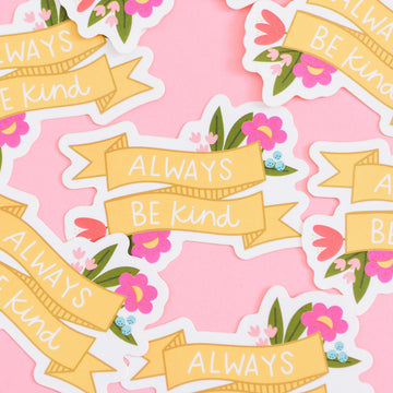 Floral Kindness Waterproof Sticker