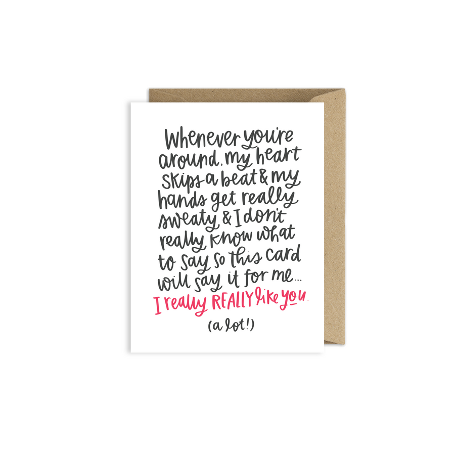 Awkward Valentines Day Card for Boyfriend or Girlfriend