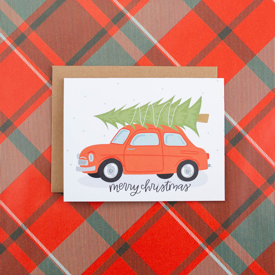 Christmas Car Greeting Card