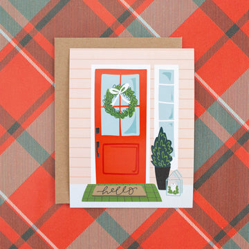 Christmas Hello Flat Note Cards - Pack of 8