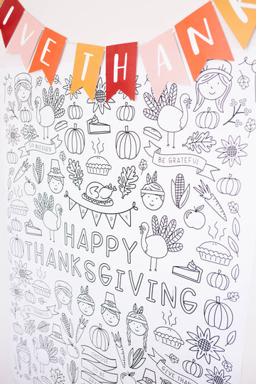 Thanksgiving Printable Coloring Poster