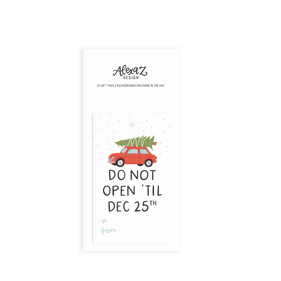 alexa zurcher holiday gift tag