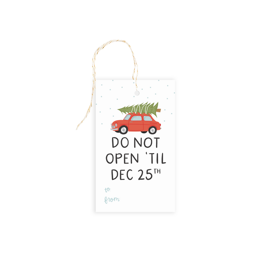 christmas gift tag alexa z design