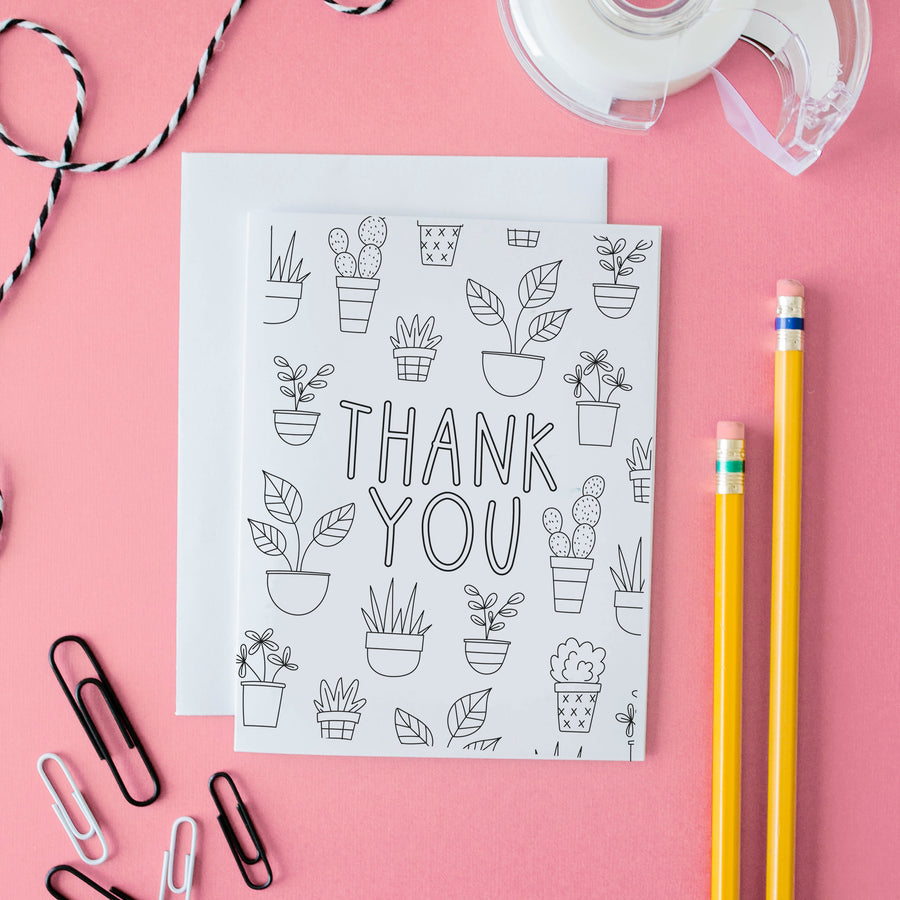Thank You Coloring Poster and Card