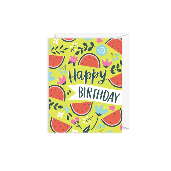 Watermelon Birthday Card