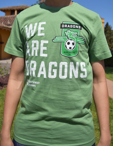 "Kid's - Burlingame Dragons FC - ""We Are Dragons"" Green"