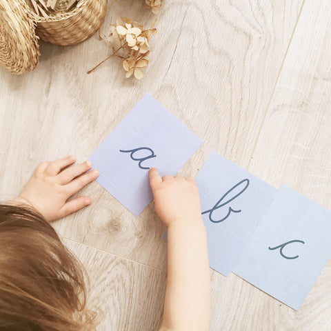 Cursive Alphabet Cards, Lowercase, Instant Download