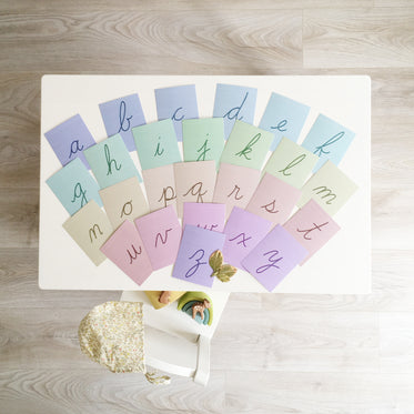 Cursive Alphabet Cards, Lowercase Only, Instant Download
