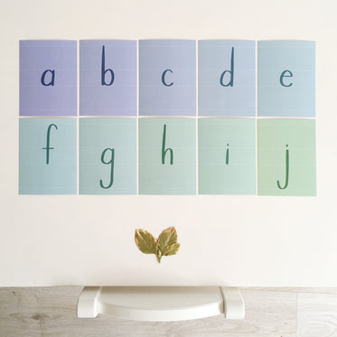 Printed Alphabet Uppercase + Lowercase Bundle, Instant Download
