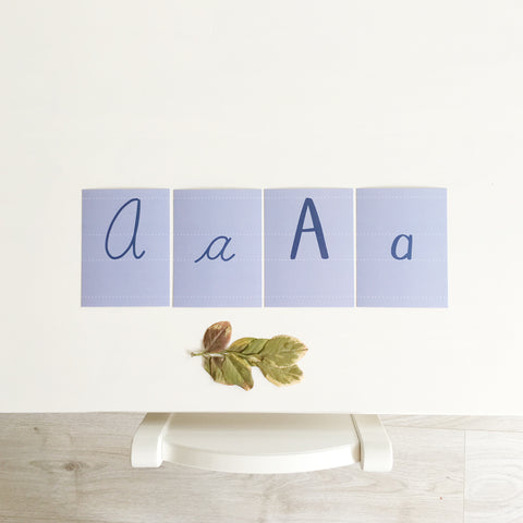 Printed Alphabet Cards, Uppercase Only, Instant Download