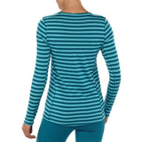 Patagonia Women's Merino Thermal Weight Crew Pearson Stripe: Ultramarine/ Underwater Blue Black