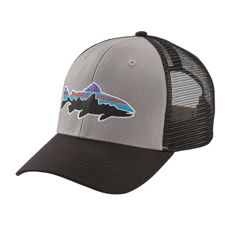 Patagonia Fitz Roy Trout Trucker Hat - Drifter Grey w/Black