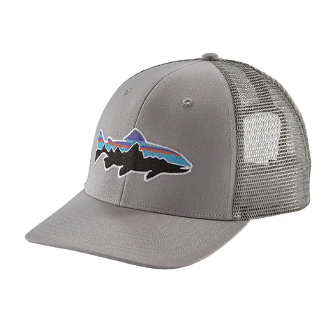 Patagonia Fitz Roy Trout Trucker Hat - Drifter Grey