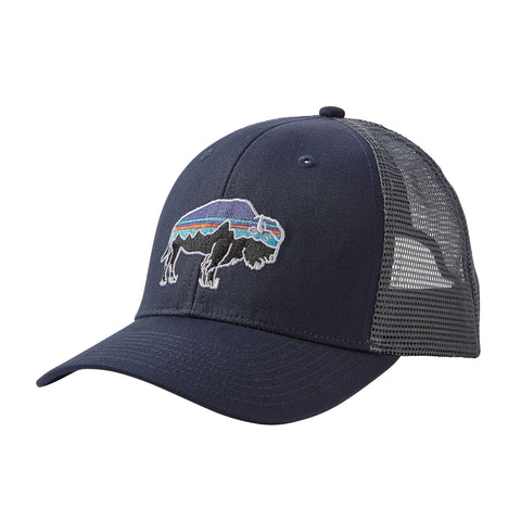 Patagonia Fitz Roy Bison Trucker Hat Navy Blue