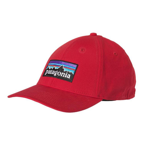 Patagonia P-6 Logo Stretch Fit Hat Totally Red