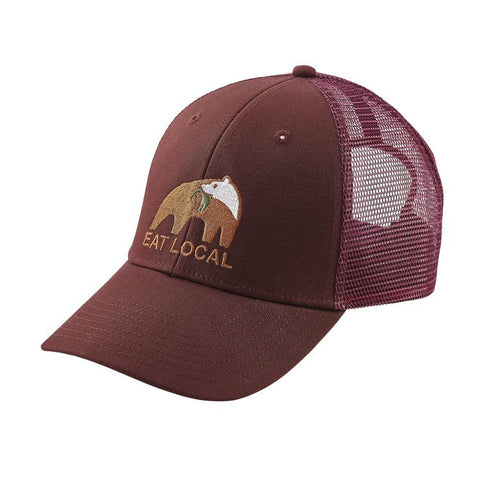 Patagonia Eat Local Upstream LoPro Trucker Hat - Dark Ruby