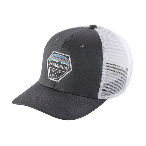 Patagonia Fitz Roy Hex Trucker Hat - Forge Grey
