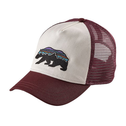 Patagonia Women's Fitz Roy Bear Layback Trucker Hat - White