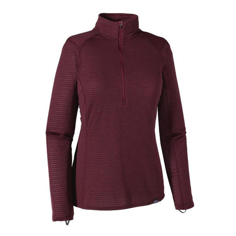 Patagonia Women's Capilene® Thermal Weight Zip Neck Deep Mahogany - Oxblood Red X-Dye