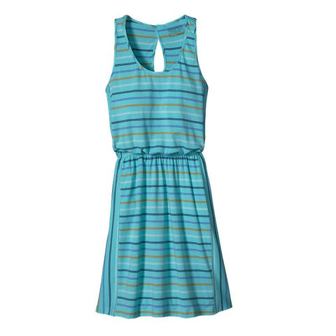 Patagonia Women's West Ashley Dress Big Frank Stripe: Howling Turquoise